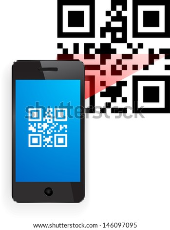 QR code. Insert your product  - stock vector