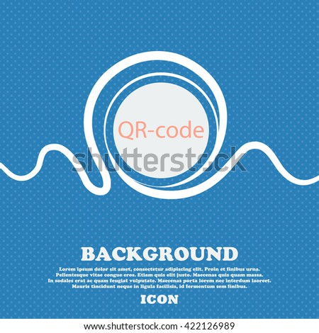 Qr code sign icon. Scan code symbol. Blue and white abstract background flecked with space for text and your design. Vector illustration - stock vector