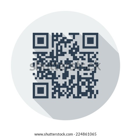 QR code. Single flat color icon. Vector illustration.