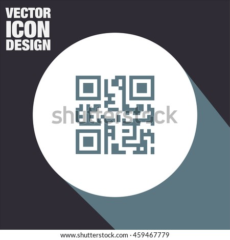 QR code vector icon. Qr code scanner sign. Computer business symbol