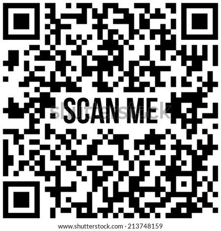 "QR code with text ""Sample QR code"". Vector version, raster file available in portfolio.  - stock vector"
