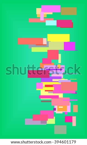 quadrangle stripe abstract background  - stock vector