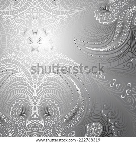 Quadrate black and white ornament for design