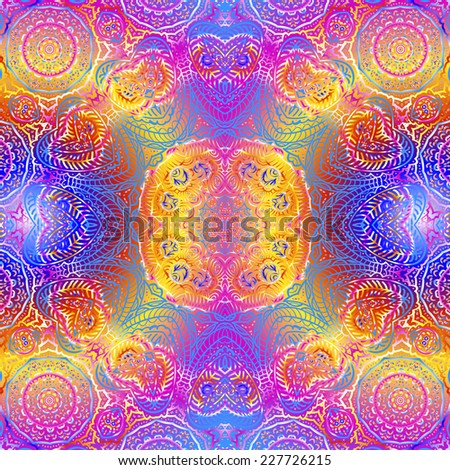 Quadrate colorful ornament for design and background