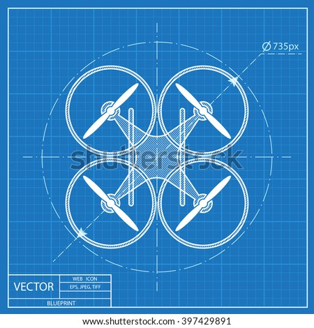 Quadrocopter drone vector blueprint icon stock vector 397429891 quadrocopter drone vector blueprint icon malvernweather Choice Image
