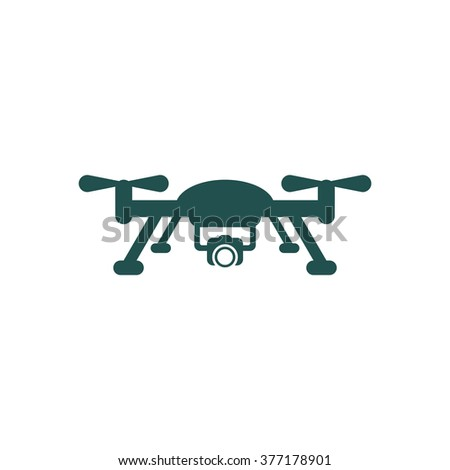 Quadrocopter Icon isolated vector flat design