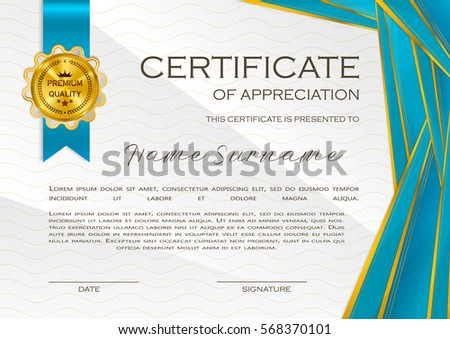 Qualification Certificate Appreciation Minimalist Design Halftone