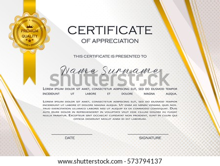 design for certificate of appreciation