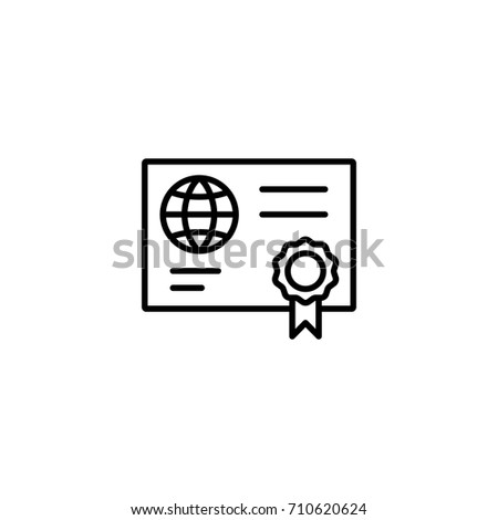 qualification diploma simple black icon stock vector  qualification diploma simple black icon