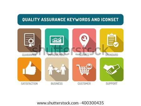 Quality Assurance Flat Icon - stock vector