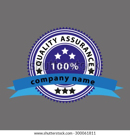 quality assurance logo - stock vector
