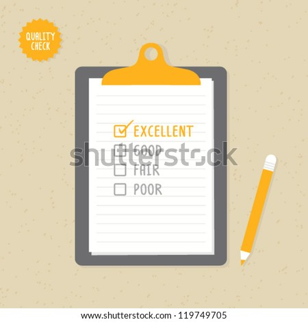 Quality Check - stock vector