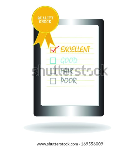 Quality Check sheet icon vector, good quality service audit business object icon. - stock vector