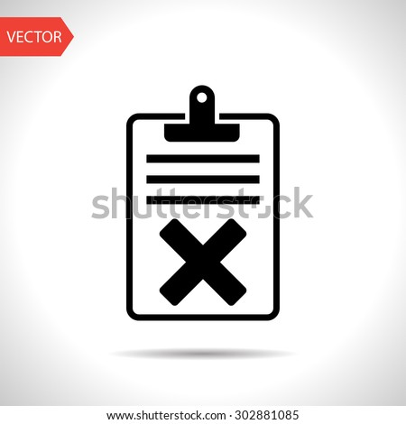 Quality control related vector icon. Fail - stock vector