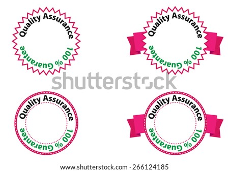 Quality labels set and Guarantee - stock vector