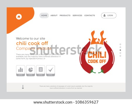 Quality One Page Chili Cook Off Stock Vector 1086359627 - Shutterstock