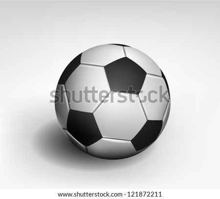 Quality Realistic Soccer Ball - stock vector