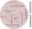 QUALITY. Word collage on white background. Illustration with different association terms. - stock photo