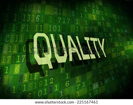 quality word isolated on internet digital background  - stock vector