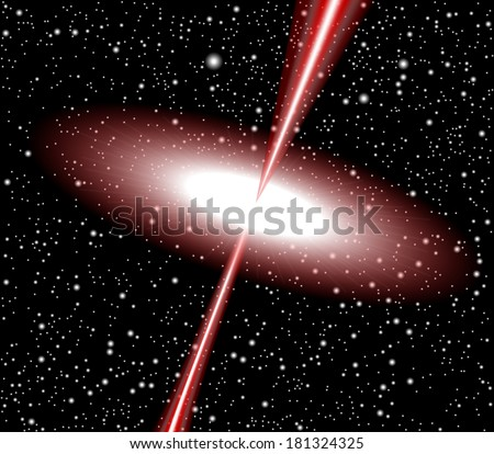 Quasar red vector - stock vector