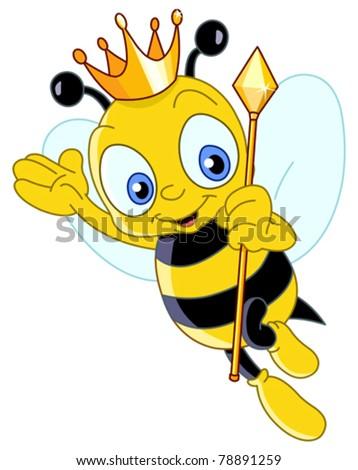 Queen bee - stock vector