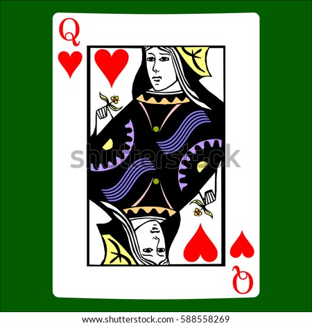 Queen Of Hearts Playing Card Stock Images, Royalty-Free ...