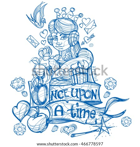 Queen Hearts Playing Card Suit Picture Stock Vector 466778597