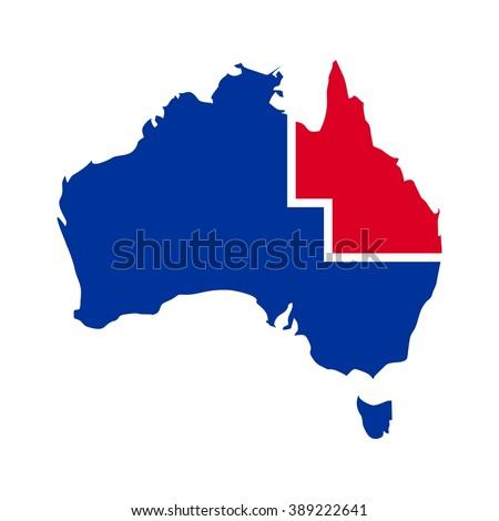 Queensland Australia Map Stock Images RoyaltyFree Images - Australia map queensland
