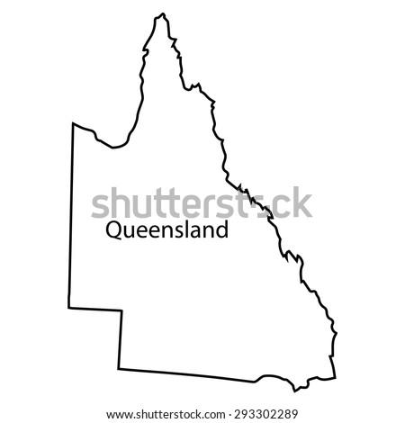 Queensland Map - stock vector