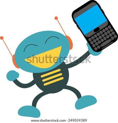 QUERTY Smartphone - stock vector