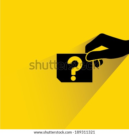 question - stock vector