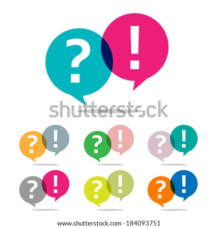 question and answer set - stock vector