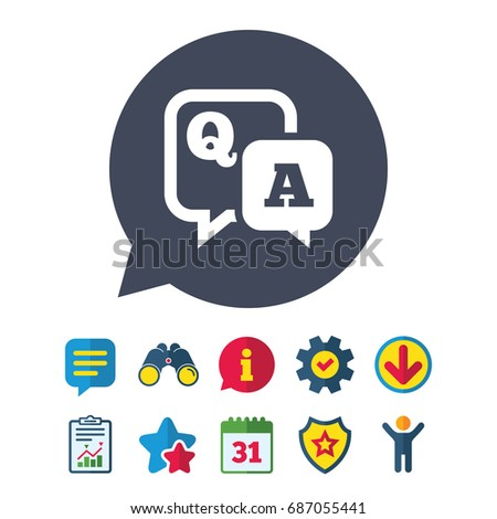 Question Answer Sign Icon Qa Symbol Stock Vector 687055441