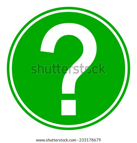 Question button on white background. Vector illustration. - stock vector