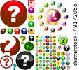 Question button set. Vector great collection. - stock photo