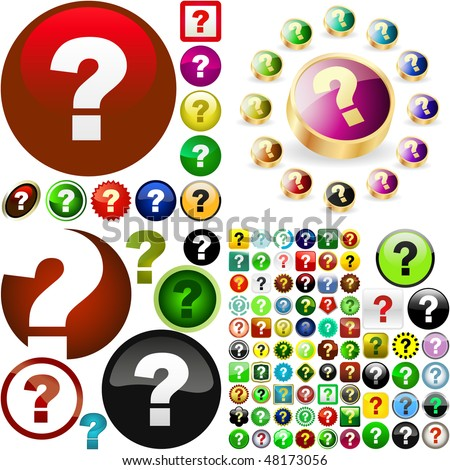 Question button set. Vector great collection. - stock vector