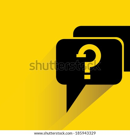question concept background in flat and shadow theme - stock vector