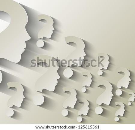 question mark - stock vector