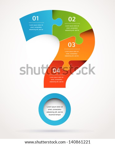 Question mark abstract background design and infographics - stock vector