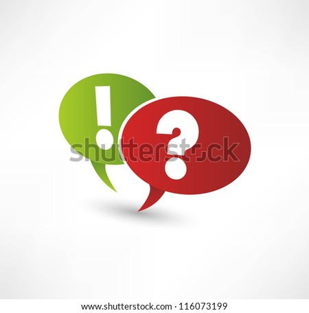 Question Mark And Exclamation Point - stock vector