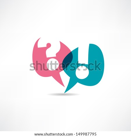 Question mark and exclamation point icon - stock vector