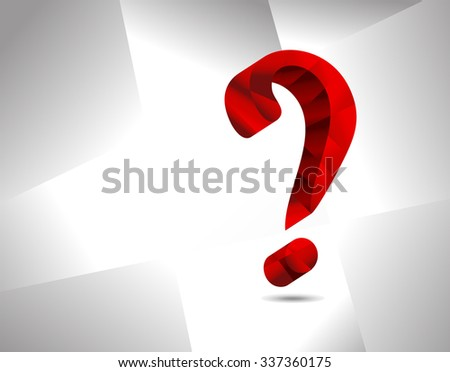 Question mark graphics for related concepts. Problem solving, questions, riddle, quiz, looking for a solution. - stock vector