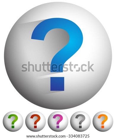 Question mark icon for related themes. Support, problem, questions, riddle, quiz, puzzlement, uncertainty. - stock vector