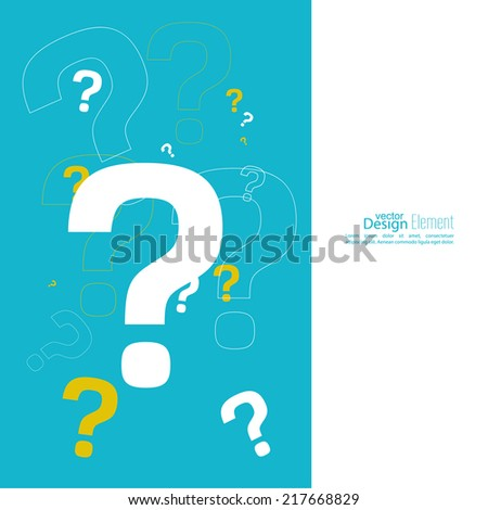 Question mark icon. Help symbol. FAQ sign on a yellow background. vector. Cover for flyer, booklet, brochure - stock vector