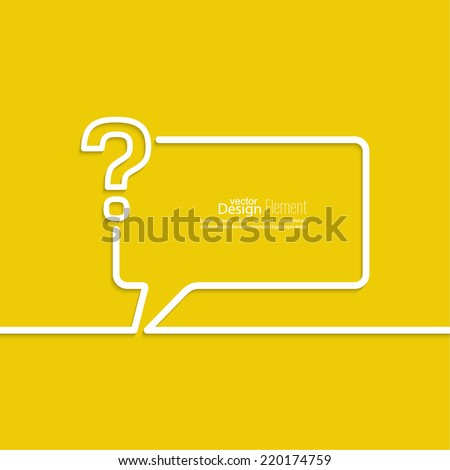 Question mark icon. Help symbol. FAQ sign on a yellow background. vector. Speech Bubbles and Chat symbol.   - stock vector