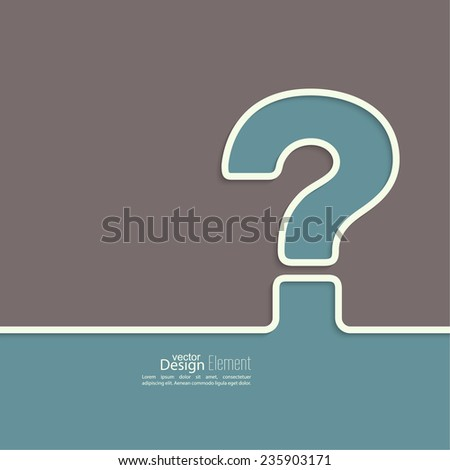 Question mark icon. Help symbol. FAQ sign on brown background. vector. outline - stock vector