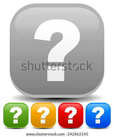 Question mark icons. Vector illustration for riddle, puzzle, support, quiz concepts. - stock vector