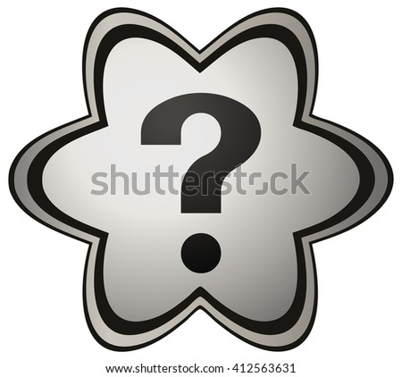 Question Mark on a Flower Star Shape Icon, Vector Illustration.