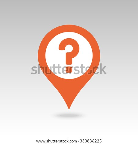 Question mark pin map icon. Map pointer. Map markers. Vector illustration EPS10 - stock vector