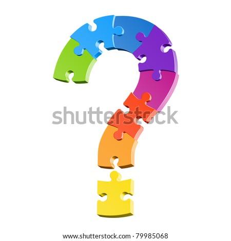 Question mark puzzle. Vector. - stock vector